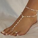 povoljno Ukrasi na tijelu-Žene Sandale od nakita Gyöngyök Romantični Imitacija bisera Kratka čarapa Jewelry Obala Za Ulica Izlasci