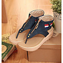 ราคาถูก รองเท้าแตะผู้หญิง-สำหรับผู้หญิง รองเท้าสบาย ๆ กางเกงยีนส์ ฤดูร้อน รองเท้าแตะ ส้นแบน ฟ้า / สีฟ้า