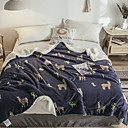 baratos Cobertores e Mantas-Cama Cobertores, Geométrica Algodão / Poliéster Engrossar cobertores