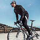 זול שורטים, מכנסיים, טייצים לרכיבת אופניים-SANTIC בגדי ריקוד גברים טייץ לרכיבה אופניים טייץ רכיבה על אופניים מכנסיים תחתיות שמור על חום הגוף בטנת פליז נושם ספורט אלסטיין צמר חורף שחור ביגוד מומחה מידת Race Fit בגדי רכיבת אופניים