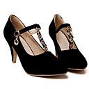 baratos Sapatos de Salto-Mulheres Sapatos Confortáveis Couro Ecológico Primavera Saltos Salto Agulha Preto / Vermelho