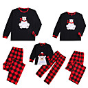 ieftine Set Îmbrăcăminte De Familie-2 buc Adulți / Copii / Copil Familie Uite Animal Manșon Lung Set Îmbrăcăminte