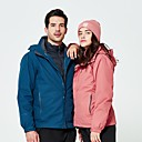 cheap Softshell, Fleece & Hiking Jackets-Women's Hiking Down Jacket Hiking 3-in-1 Jackets outdoor Autumn / Fall Spring Winter Windproof Fast Dry Wearable UV Resistant POLY Winter Jacket Single Slider Ski / Snowboard Hunting and Fishing