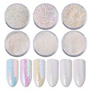 cheap Nail Kits & Sets-Glitter Powder Loose powder Sequins Eco-friendly / Best Quality White Series nail art Manicure Pedicure Glitter Korean / Fashion Special Occasion / Daily / Black Tie Gala