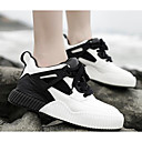 זול סניקרס לנשים-בגדי ריקוד נשים נעלי נוחות מיקרופייבר סתיו נעלי ספורט שטוח שחור / אפור / ורוד