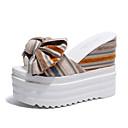 ieftine Flip-Flops de Damă-Pentru femei Pantof cu berete PU Vară Papuci & Flip-flops Toc Platformă Galben / Albastru