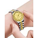 povoljno Stole za vjenčanje-Žene Luxury Watches Ručni satovi s mehanizmom za navijanje Zlatni sat Kvarc Nehrđajući čelik Srebro 30 m Kreativan New Design Analogni-digitalni dame Moda Elegantno - Zlato Obala Crn