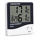 billige Bil-lader-innendørs rom lcd elektronisk temperatur fuktighetsmåler digital termometer hygrometer værstasjon vekkerklokke