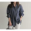 olcso Női szandálok-női ing - csíkos ing gallér