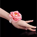 cheap Wedding Flowers-Wedding Flowers Wrist Corsages Wedding / Wedding Party Bead / Oxhide / Fabrics 0-10 cm