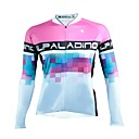 cheap Cycling Jerseys-ILPALADINO Women's Long Sleeve Cycling Jersey - White Fashion Bike Jersey Top, Ultraviolet Resistant 100% Polyester
