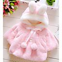 tanie Topy dla niemowląt-Dziecko Dla dziewczynek Podstawowy Solidne kolory Długi rękaw Futro królika / Bawełna Bluzka Biały / Brzdąc