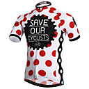 cheap Cycling Jerseys-XINTOWN Men's Short Sleeve Cycling Jersey Red and White Polka Dot Bike Jersey Top Breathable Quick Dry Ultraviolet Resistant Sports Elastane Terylene Lycra Mountain Bike MTB Road Bike Cycling