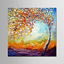 billige Abstrakte malerier-Hang malte oljemaleri Håndmalte - Abstrakt Moderne Lerret