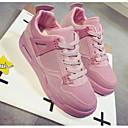 זול נעלי ספורט לנשים-בגדי ריקוד נשים נעלי נוחות PU אביב נעלי אתלטיקה ריצה שטוח שחור / אפור / ורוד