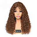 cheap Human Hair Wigs-Remy Human Hair Lace Front Wig Deep Parting style Brazilian Hair Curly Wig 180% Density with Baby Hair Best Quality Hot Sale Thick Women's Long Human Hair Lace Wig Premierwigs