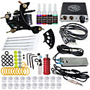 cheap Starter Tattoo Kits-DRAGONHAWK Tattoo Machine Starter Kit - 1 pcs Tattoo Machines with 4 x 5 ml tattoo inks, Safety, Easy to Install, Recyclable Alloy Mini power supply Case Not Included 1 cast iron machine liner