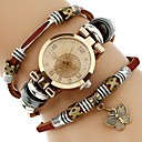 ราคาถูก สร้อยคอ-สำหรับผู้หญิง นาฬิกาสร้อยข้อมือ นาฬิกาอิเล็กทรอนิกส์ (Quartz) หนัง น้ำตาล นาฬิกาใส่ลำลอง เลียนแบบเพชร ระบบอนาล็อก วินเทจ แฟชั่น - ขาว หนึ่งปี อายุการใช้งานแบตเตอรี่