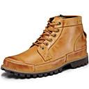 baratos Botas Masculinas-Homens Fashion Boots Pele Napa Inverno Clássico / Casual Botas Manter Quente Botas Cano Médio Marron / Khaki