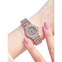 preiswerte Modische Uhren-Damen Armbanduhr Quartz 30 m Wasserdicht Neues Design Legierung Band Analog Luxus Glanz Silber / Gold / Rotgold - Silber Gold Rotgold