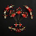 tanie Zestawy biżuterii-Damskie Biały Styl vintage Biżuteria Ustaw - Żywica Łyszczec Etniczne Zawierać Patyczki do Włosów Biżuteria na czoło Złoty / Czerwony Na Ślub Impreza