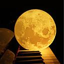 abordables Lámparas de Noche-12 cm 3d lámpara de la luna dormitorio estantería luz nocturna creativo regalo de navidad año nuevo