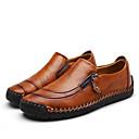 hesapli Erkek Düz Ayakkabıları ve Makosenleri-Erkek Ayakkabı Tüylü / Deri Sonbahar / İlkbahar yaz Günlük / Çıtı Pıtı Mokasen & Bağcıksız Ayakkabılar Günlük / Ofis ve Kariyer için Zincir Siyah / Sarı / Kahverengi