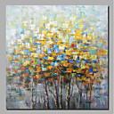 זול ציורים מופשטים-ציור שמן צבוע-Hang מצויר ביד - מופשט פרחוני / בוטני עכשווי מודרני כלול מסגרת פנימית / בד מתוח