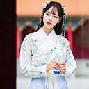 povoljno Plesni kostimi-Plesni kostimi Tradicionalna kineska odjeća hanfu Žene Trening / Seksi blagdanski kostimi Pamuk Uzorak / print Dugih rukava Kaput