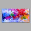 tanie Obrazy: abstrakcja-Hang-Malowane obraz olejny Ręcznie malowane - Abstrakcja Nowoczesny Naciągnięte płótka / Rozciągnięte płótno
