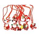 זול תאורה מודרנית-1pc ילדים הוביל זוהר שרשרת צעצוע זוהר חג המולד סדרת חג המולד עץ תאורה מהבהבת תליון תליון התינוק שרשרת צעצועים צעצוע אקראי