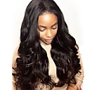 cheap Human Hair Wigs-Remy Human Hair Full Lace Lace Front Wig Brazilian Hair Wavy Body Wave Black Wig Asymmetrical 130% 150% 180% Density with Baby Hair Soft Women Easy dressing Best Quality Natural Black Women's Long