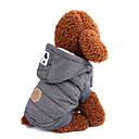 abordables Ropa para Perro-Perros Abrigos Ropa para Perro Un Color / Clásico / Británico Gris / Azul Algodón Disfraz Para mascotas Hombre Mantiene abrigado
