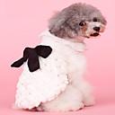 abordables Ropa para Perro-Perros / Gatos Abrigos Ropa para Perro Un Color / Lazo Beige Felpa Disfraz Para mascotas Mujer Elegante / Lazo