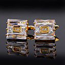 cheap Men's Accessories-Rectangle Golden Cufflinks Alloy Dresswear / Fashion Unisex Costume Jewelry For Gift / Festival