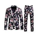 preiswerte Herrenhalbschuhe-Männer plus Größe Baumwolle Anzüge-floral Spitze Revers