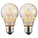 abordables Chandeliers Muraux-2w e27 edison a conduit ampoule a19 rétro lumière filament ac 220v - 240v pour la décoration de soirée ambiance de fête de Noël (2 pcs)