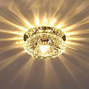 billige Taklamper-Krystall Takplafond Omgivelseslys galvanisert Krystall Krystall AC110-240V Varm Hvit / Kald Hvit