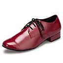 olcso Futóruházat-Férfi Modern cipők Lakkbőr Sportcipő Illesztés Vastag sarok Dance Shoes Sötétvörös