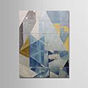 halpa Abstraktit maalaukset-Hang-Painted öljymaalaus Maalattu - Abstrakti Moderni Ilman Inner Frame / Valssatut kankaat