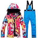 cheap Ski Wear-ARCTIC QUEEN Women's Ski Jacket with Pants Windproof Warm Ski Skiing Camping / Hiking Snowboarding POLY Eco-friendly Polyester Pants / Trousers Bib Pants Top Ski Wear / Winter