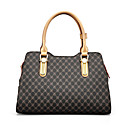 cheap Totes-Women's Bags Synthetic Tote Pattern / Print / Zipper Coffee