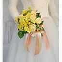 baratos Bouquets de Noiva-Bouquets de Noiva Buquês Casamento / Festa de Casamento Flôr Seca / Seda 11-20 cm