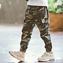 tanie Spodnie dla chłopców-Dzieci Dla chłopców Aktywny Codzienny Solidne kolory Warstwy materiały / Patchwork Bawełna / Poliester Spodnie Zieleń wojskowa 140