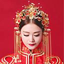 ieftine Accesorii Lolita-Decorațiuni Seturi de bijuterii de mireasă klasické Tradițional Pentru femei Auriu Mozaic Perlă Vintage Veșminte de cap Cercel Pietre Prețioase Artificiale Aliaj Costume de Halloween