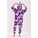 cheap Kigurumi Pajamas-Adults' Unicorn Anime Onesie Pajamas polyester fibre Purple Cosplay For Men and Women Animal Sleepwear Cartoon Festival / Holiday Costumes