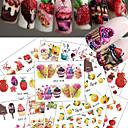 voordelige Watertransfer nagelstickers-18 pcs Water overdracht sticker Fruit / IJs Nagel kunst Manicure pedicure Beste kwaliteit Zoet Dagelijks