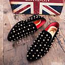 abordables Zapatillas sin Cordones y Mocasines de Hombre-Hombre Mocasín Ante Otoño Zapatos de taco bajo y Slip-On Negro / Boda / Fiesta y Noche