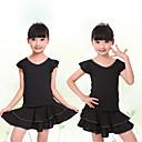 abordables Ropa de Baile para Niños-Baile Latino Accesorios Chica Entrenamiento / Rendimiento Elastán / Licra Fruncido / Combinación Manga Corta Faldas / Top