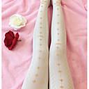 tanie Sukienki Lolita-Słodka Lolita Casual Lolita Słodka Lolita Casual Lolita Kobieta Skarpety / Pończochy Cosplay Biały / Czarny Kostiumy